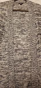 Express black/white knit cardigan